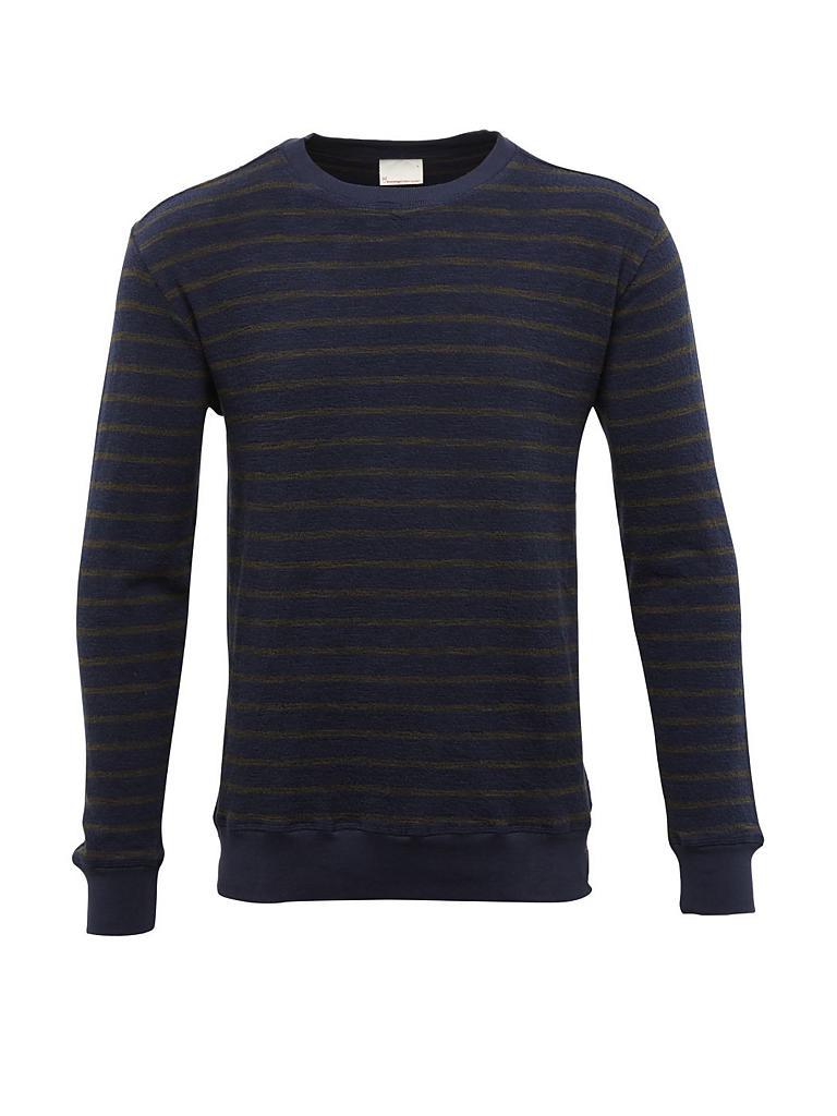 knowledge cotton apparel sweater blau m. Black Bedroom Furniture Sets. Home Design Ideas