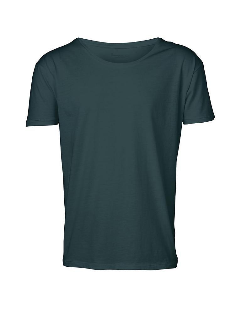 knowledge cotton apparel t shirt gr n s. Black Bedroom Furniture Sets. Home Design Ideas
