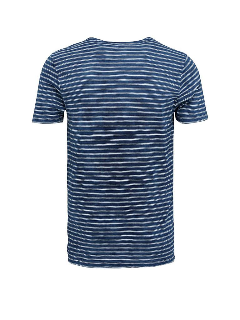 knowledge cotton apparel t shirt blau s. Black Bedroom Furniture Sets. Home Design Ideas