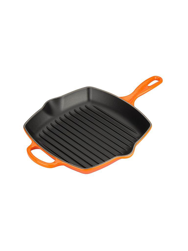le creuset grillpfanne quadratisch 26x26cm signature orange. Black Bedroom Furniture Sets. Home Design Ideas