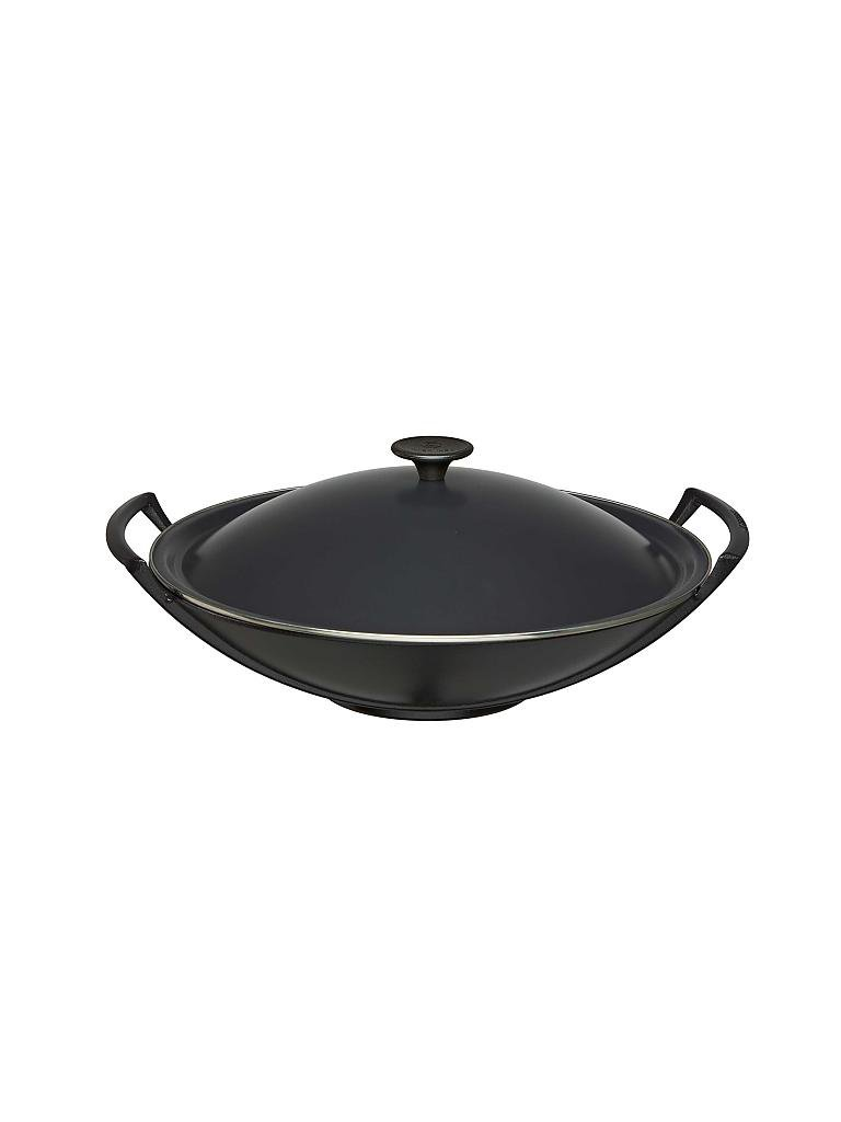 le creuset wok mit deckel 36cm schwarz schwarz. Black Bedroom Furniture Sets. Home Design Ideas