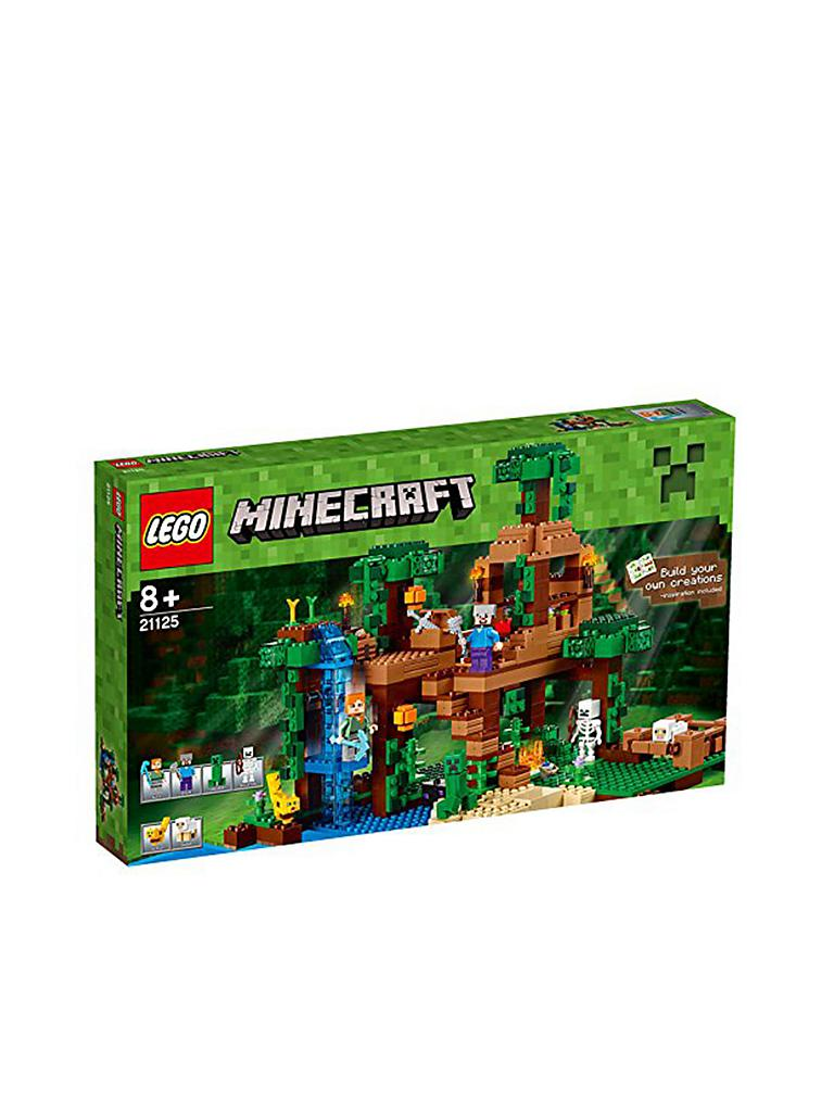 LEGO | ADVENTURE   Minecraft   Das Dschungel Baumhaus 21125 | Transparent