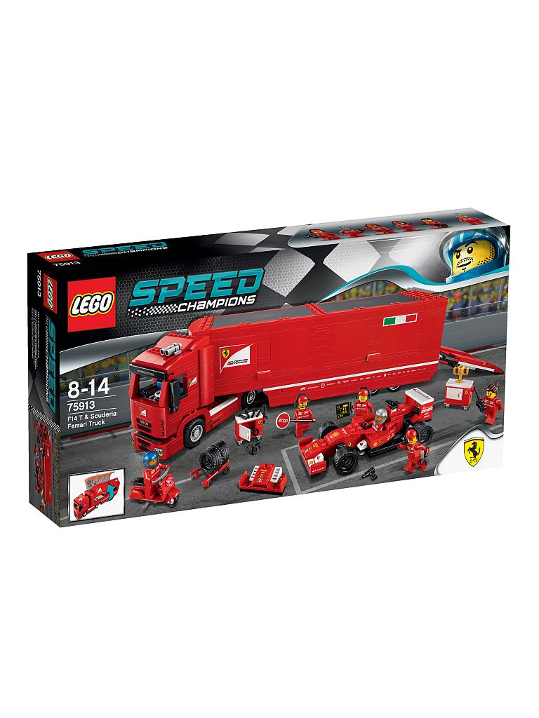 LEGO | ADVENTURE - Speed Champions-F14 & Scuderia Ferrari Truck | transparent