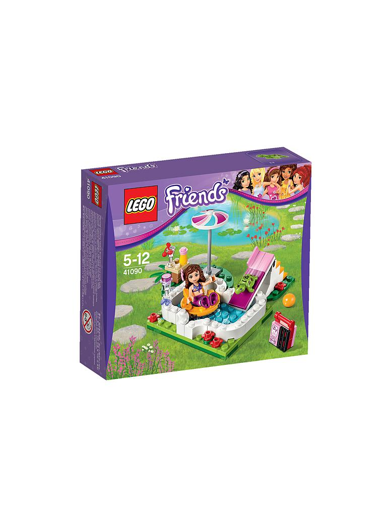 Lego friends olivia 39 s gartenpool transparent for Gartenpool 4