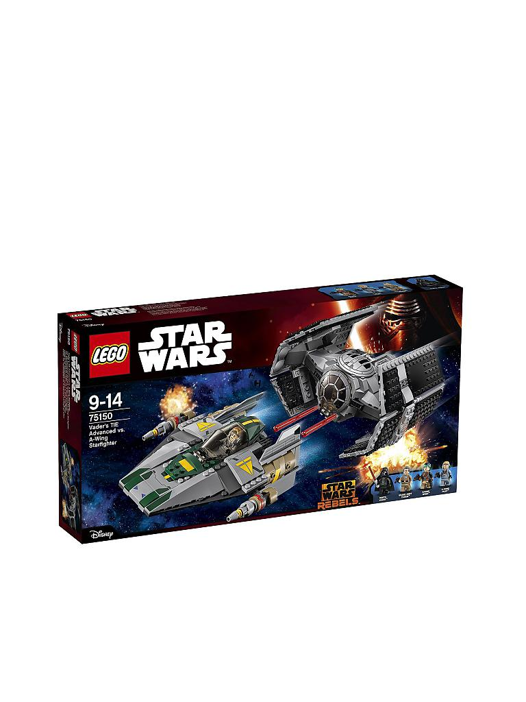LEGO | Strar Wars - Vaders Tie Advanced vs. A-Wing Starfighter | transparent
