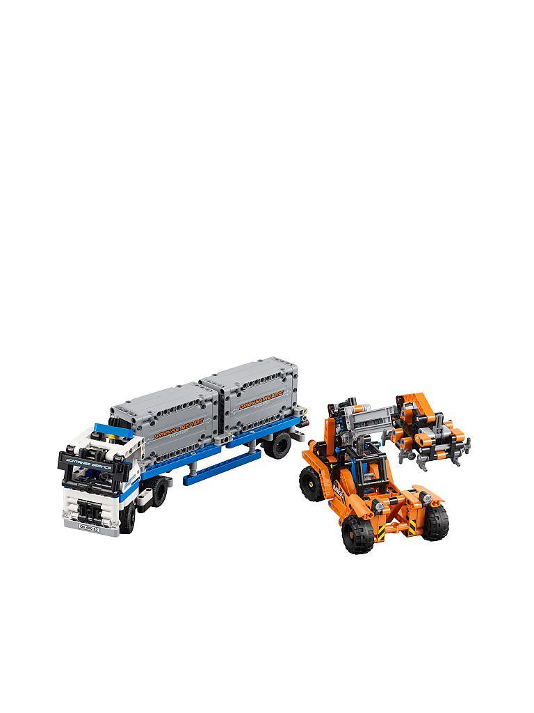 lego technic container transport transparent. Black Bedroom Furniture Sets. Home Design Ideas