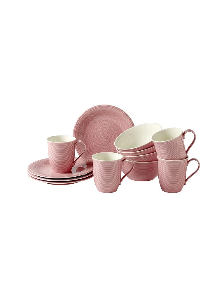 LIKE | Villeroy & Boch Group Color Loop - Frühstücks-Set 12-tlg. (Rose) | rosa