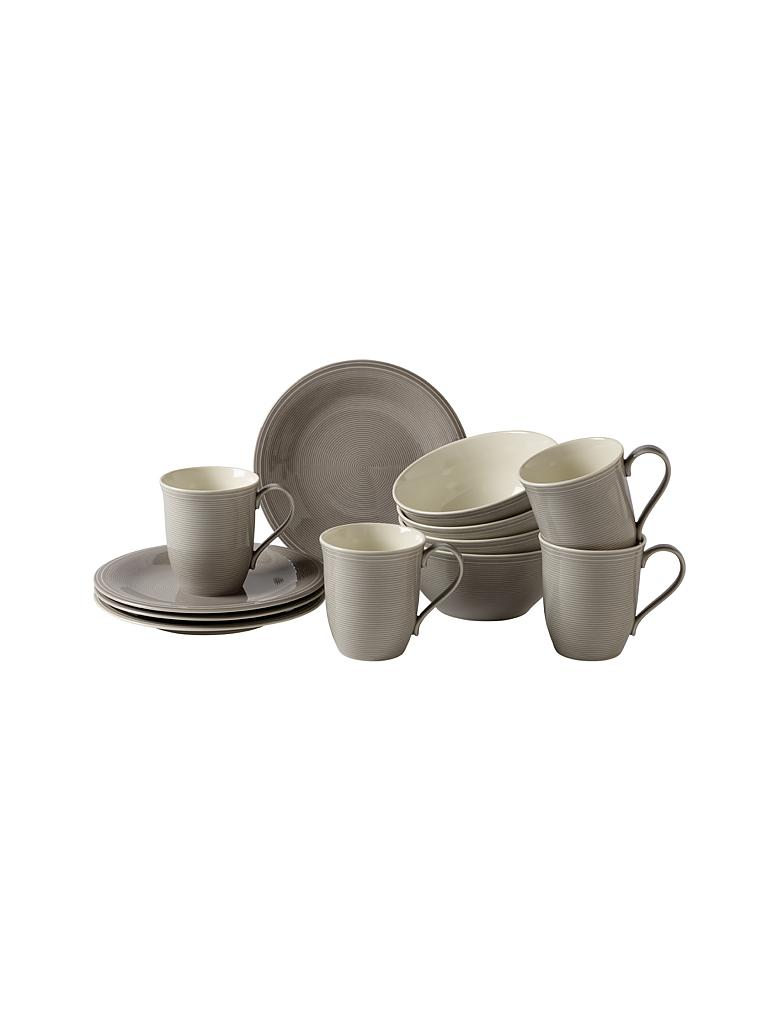 LIKE | Villeroy & Boch Group Color Loop - Frühstücks-Set 12-tlg. (Stone) | grau