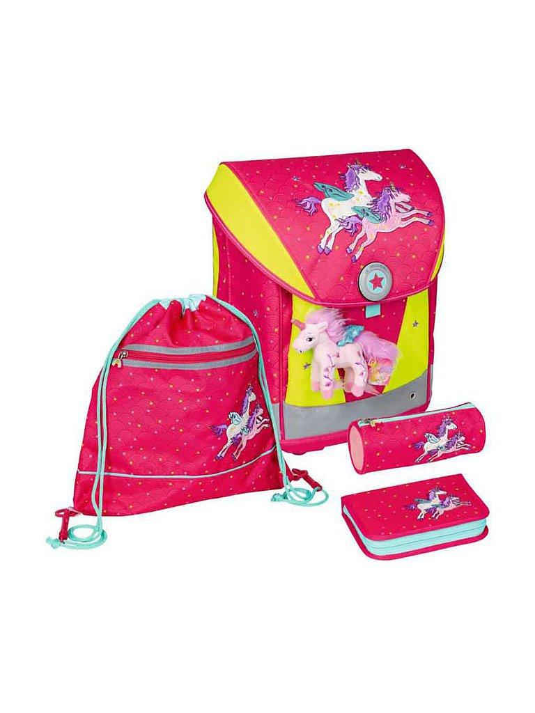 LILLIFEE Schultaschen-Set Ergo Style - Zauberhaft Einhörner 4-teilig (fluoreszierend)