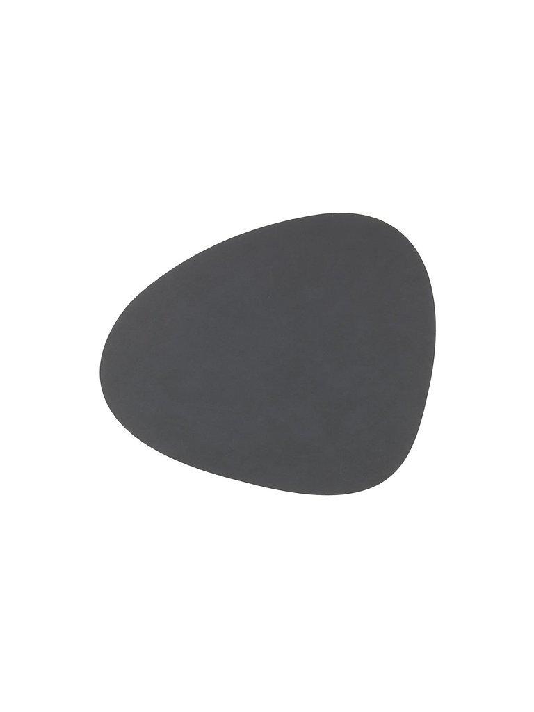 LIND DNA Leder-Platzset Nupo oval 37x44cm grau