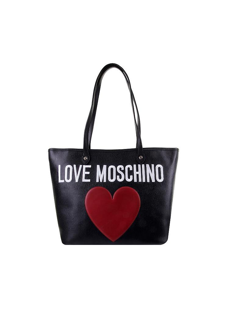 love moschino tasche heart schwarz. Black Bedroom Furniture Sets. Home Design Ideas