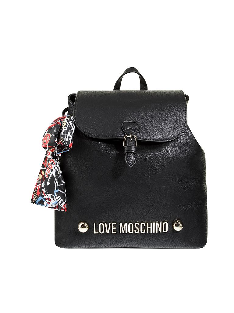 love moschino tasche rucksack lettering love moschino schwarz. Black Bedroom Furniture Sets. Home Design Ideas