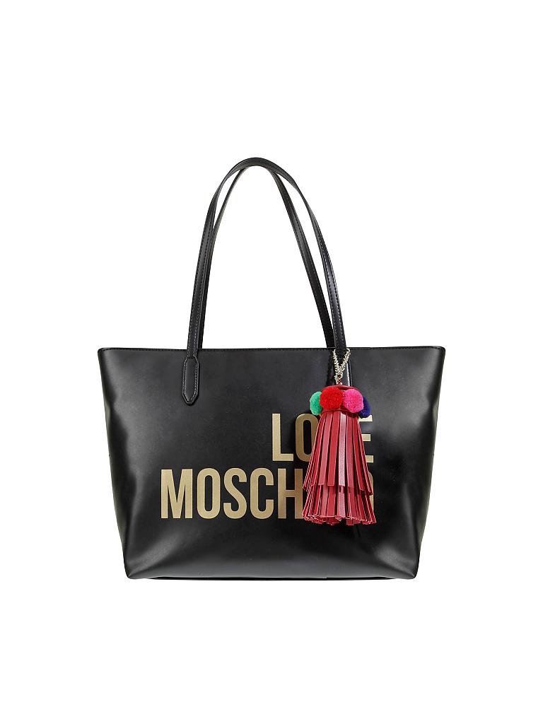 love moschino tasche shopper schwarz. Black Bedroom Furniture Sets. Home Design Ideas
