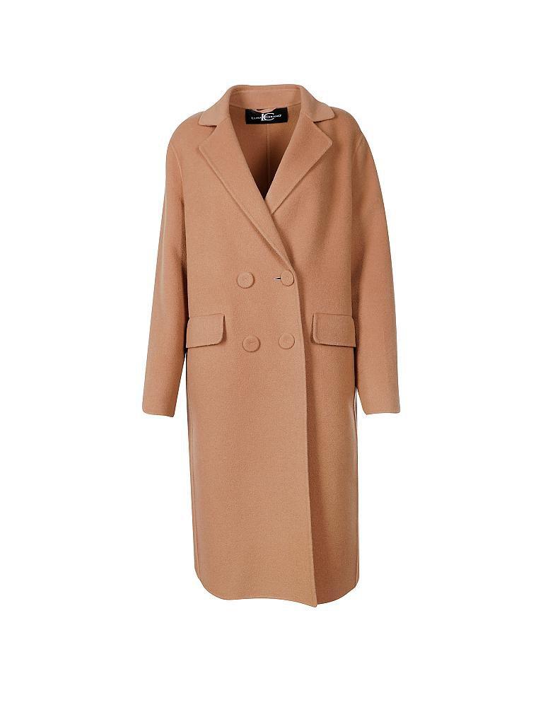 Woll mantel braun