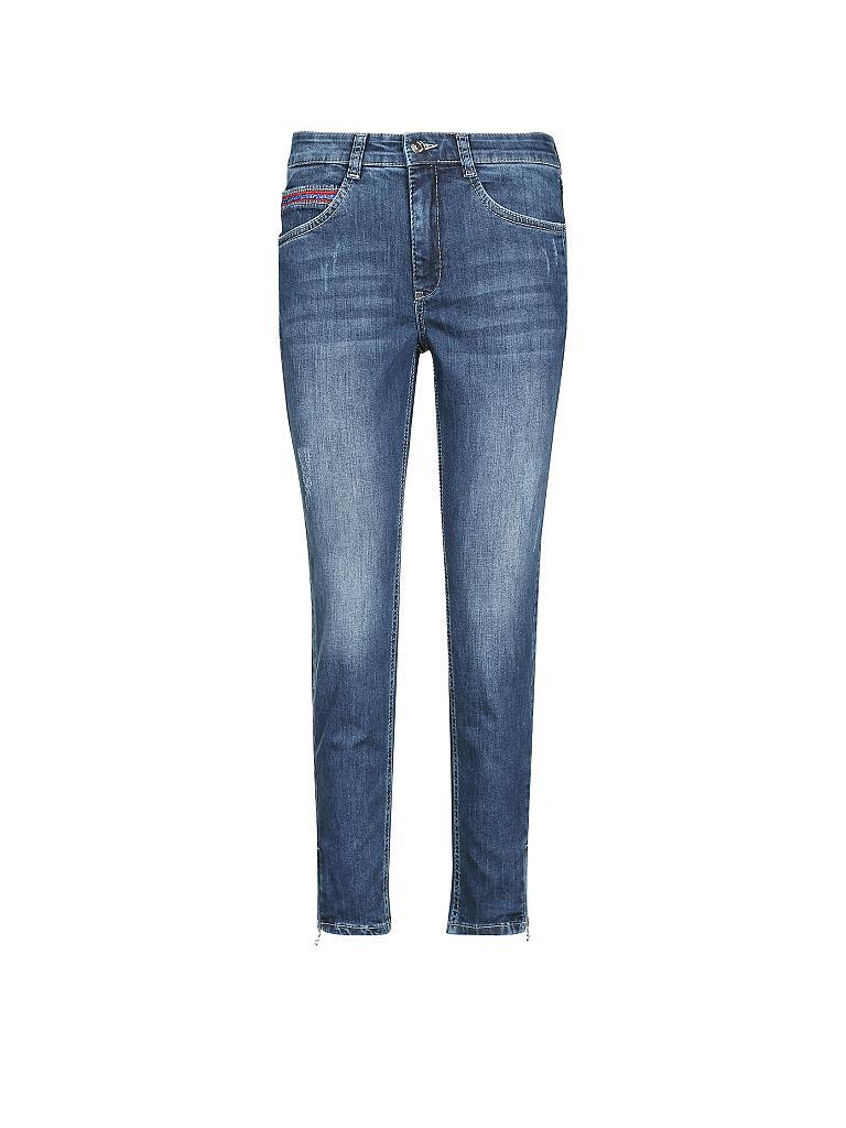 mac jeans slim fit angela cropped blau 46 l27. Black Bedroom Furniture Sets. Home Design Ideas