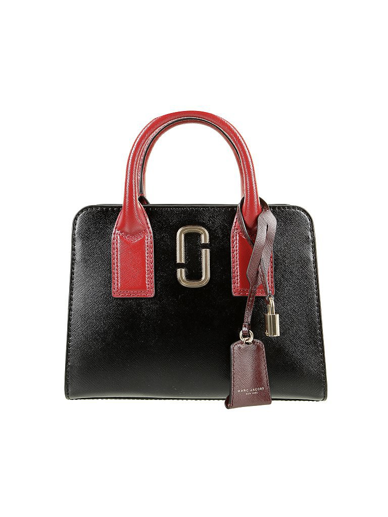 MARC JACOBS Ledertasche - Henkeltasche Little Big Shot schwarz
