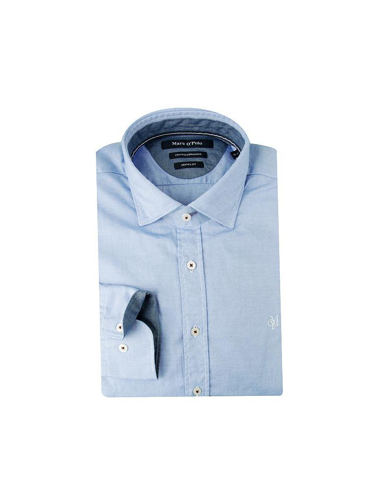 MARC O'POLO | Hemd Shaped-Fit | blau
