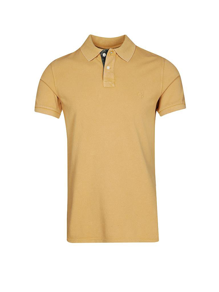 MARC O'POLO | Poloshirt Shaped-Fit | gelb
