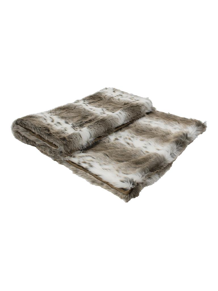 mars more plaid tagesdecke in felloptik 130x170cm grau. Black Bedroom Furniture Sets. Home Design Ideas