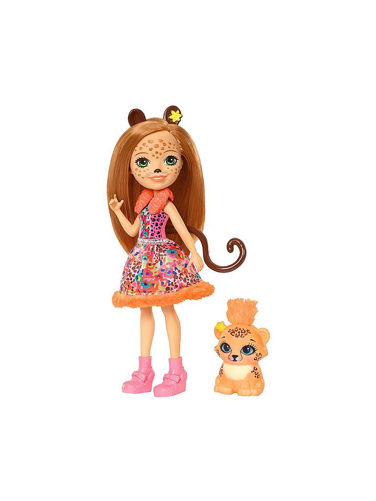 MATTEL | Enchantimals - Gepardenmädchen Cherish Cheetah | transparent
