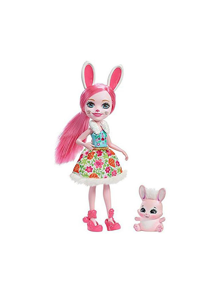 MATTEL | Enchantimals - Hasenmädchen Bree Bunny Puppe 15cm | transparent