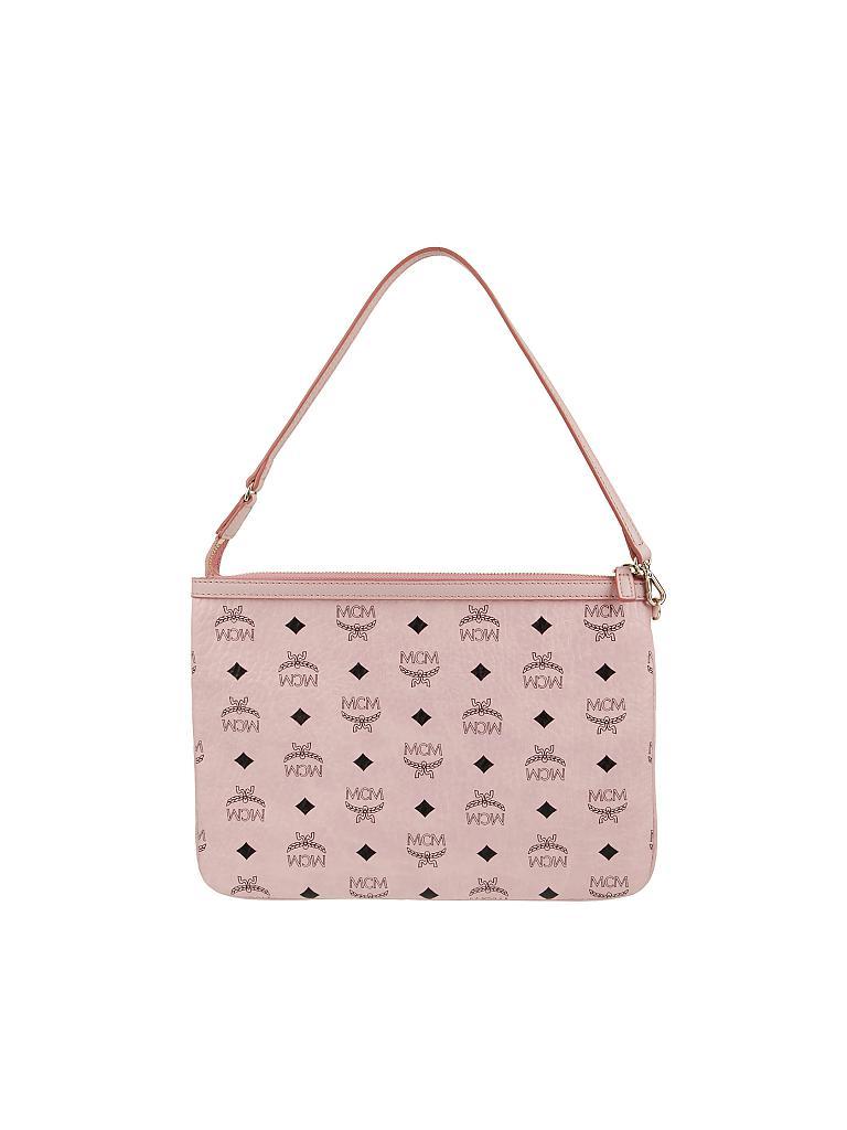 mcm tasche shopper liz visetos rosa. Black Bedroom Furniture Sets. Home Design Ideas