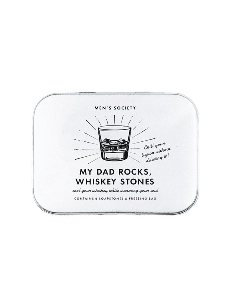 MEN´S SOCIETY My Dad Rocks - Whiskey Stones silber
