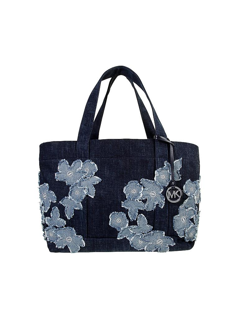 michael kors jeans tasche shopper denim item blau. Black Bedroom Furniture Sets. Home Design Ideas