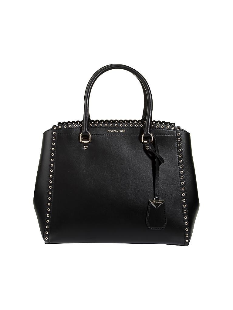 michael kors ledertasche handtasche benning schwarz. Black Bedroom Furniture Sets. Home Design Ideas