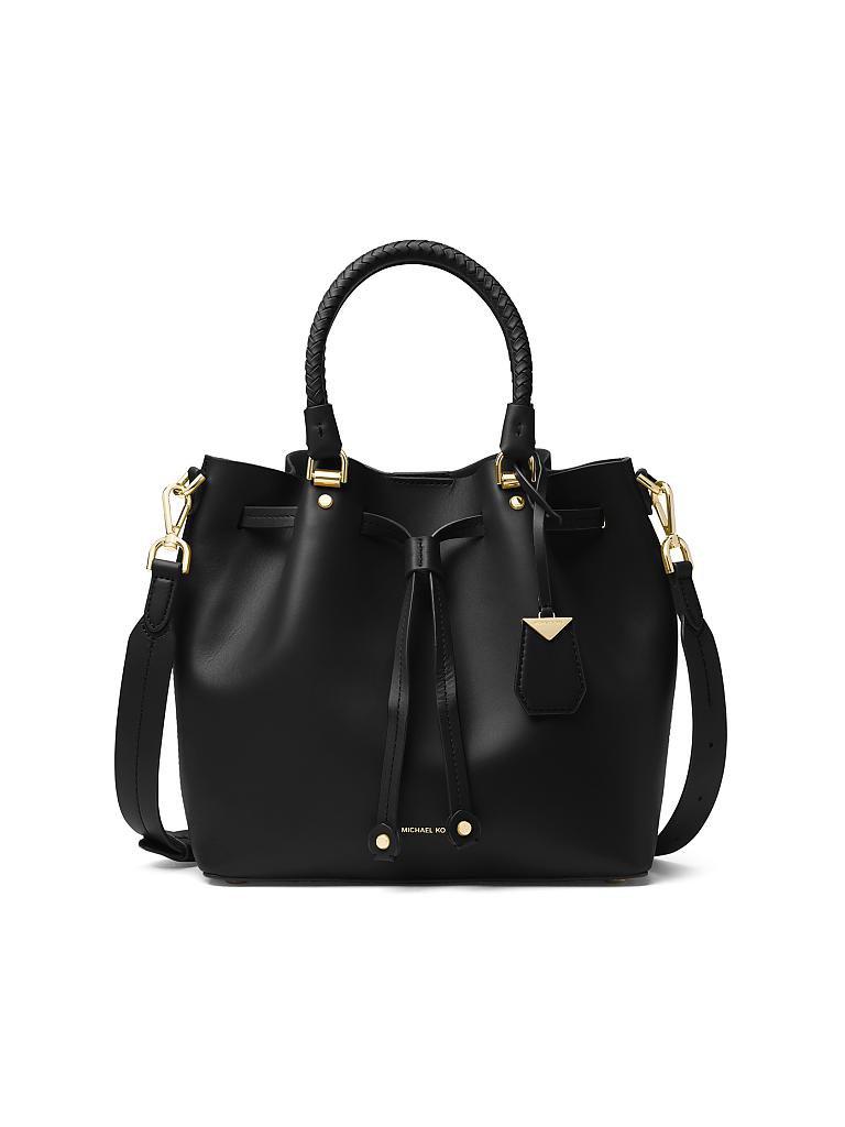 michael kors ledertasche handtasche blakely schwarz. Black Bedroom Furniture Sets. Home Design Ideas