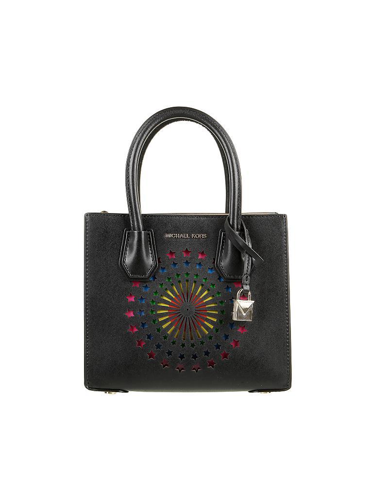 michael kors ledertasche handtasche mercer schwarz. Black Bedroom Furniture Sets. Home Design Ideas