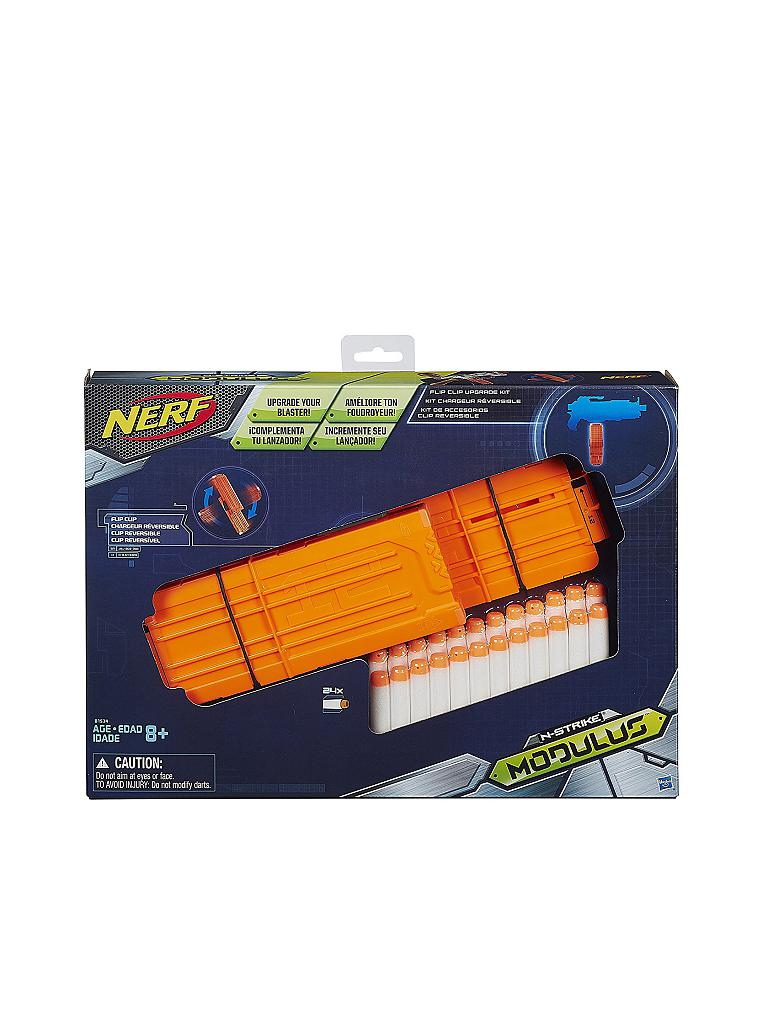 NERF | N-Strike Elite Modulus Zubehör-Set Doppelseitiges Clip-Magazin | transparent