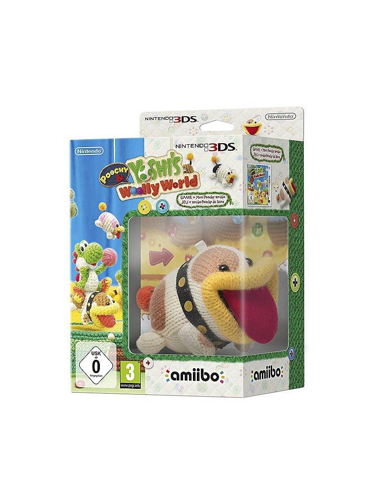 NINTENDO 3DS Poochy & Yoshi´s Woolly World inklusive amiibo Woll-Schnuffel