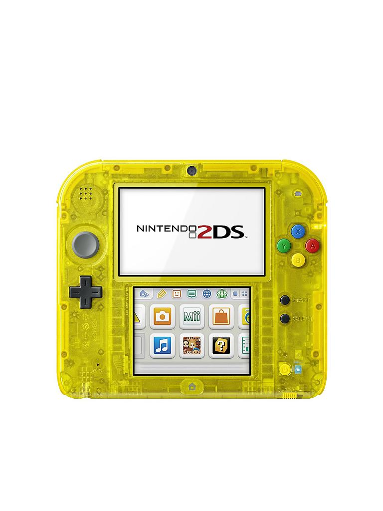 NINTENDO 3DS | 2DS Konsole inkl. Pokemon Yellow Edition - Bundle | transparent