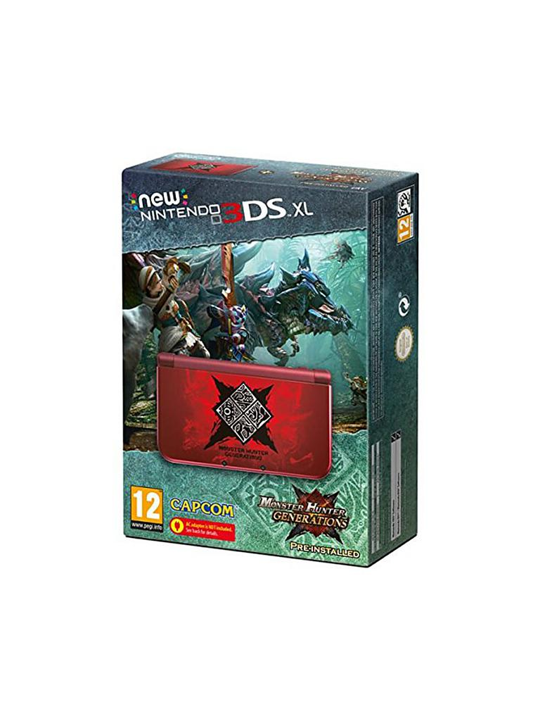 NINTENDO 3DS | XL Konsole (Monster Hunter Generations Edition)  | transparent