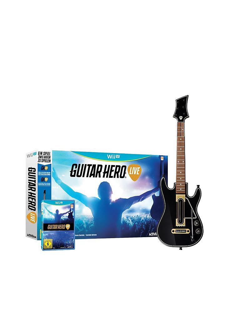 NINTENDO WII U | Guitar Hero LIVE | transparent