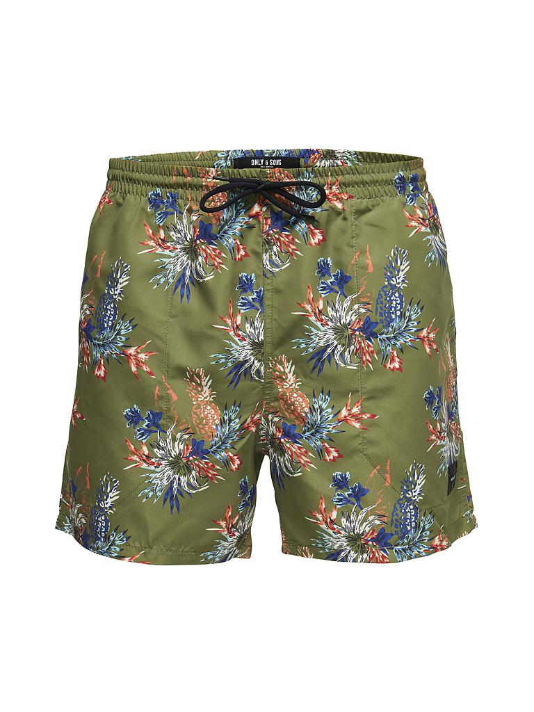 ONLY & SONS | Badeshorts | olive