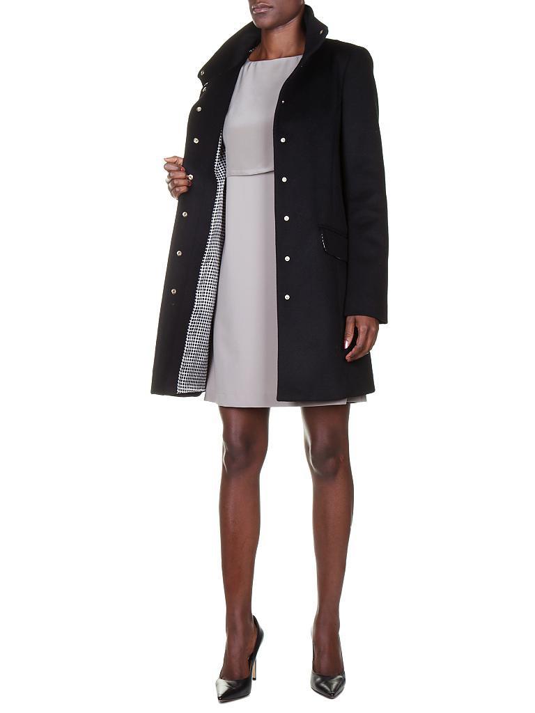 patrizia pepe woll mantel schwarz xs. Black Bedroom Furniture Sets. Home Design Ideas