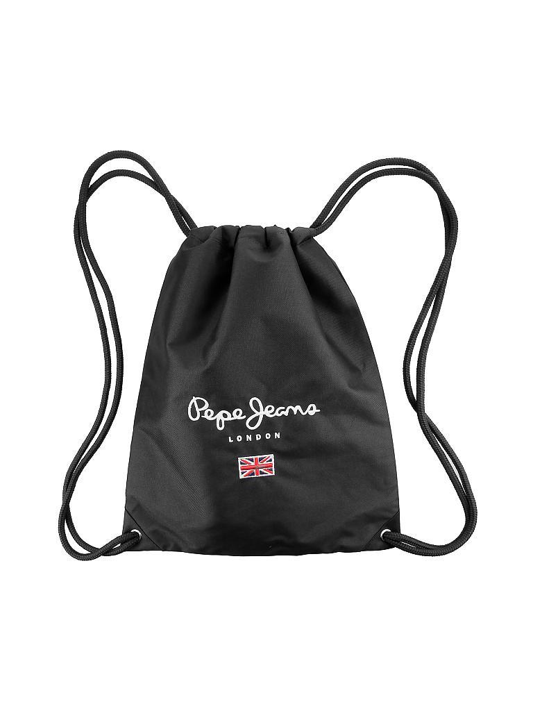 pepe jeans gymnastik tasche schwarz. Black Bedroom Furniture Sets. Home Design Ideas