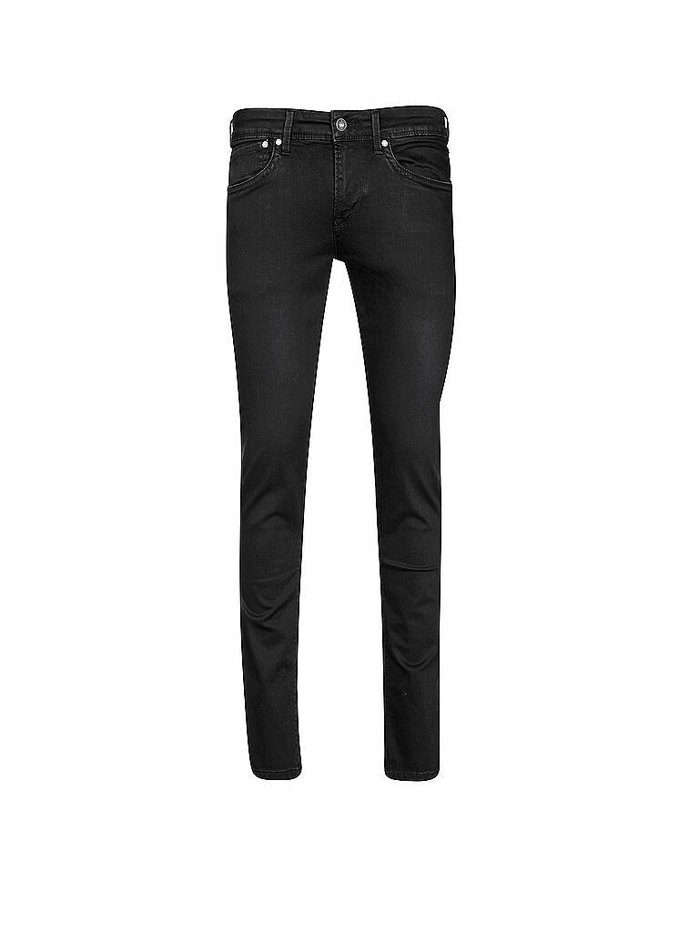 pepe jeans jeans slim fit hatch powerflex schwarz. Black Bedroom Furniture Sets. Home Design Ideas