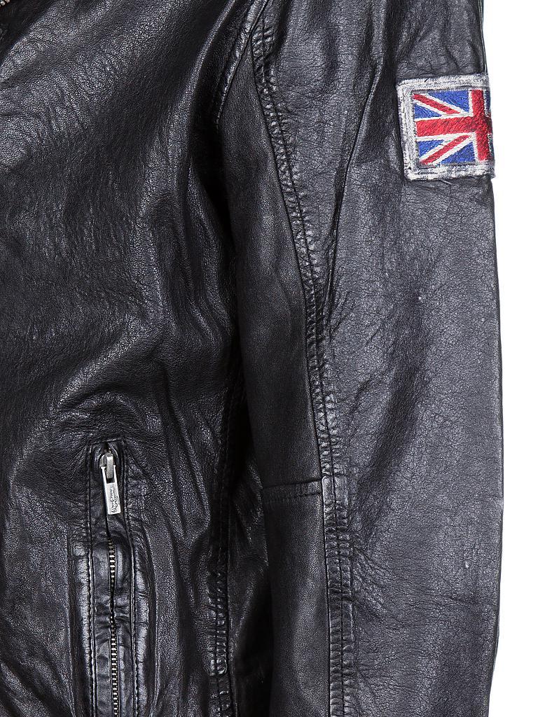 pepe jeans lederjacke schwarz s. Black Bedroom Furniture Sets. Home Design Ideas