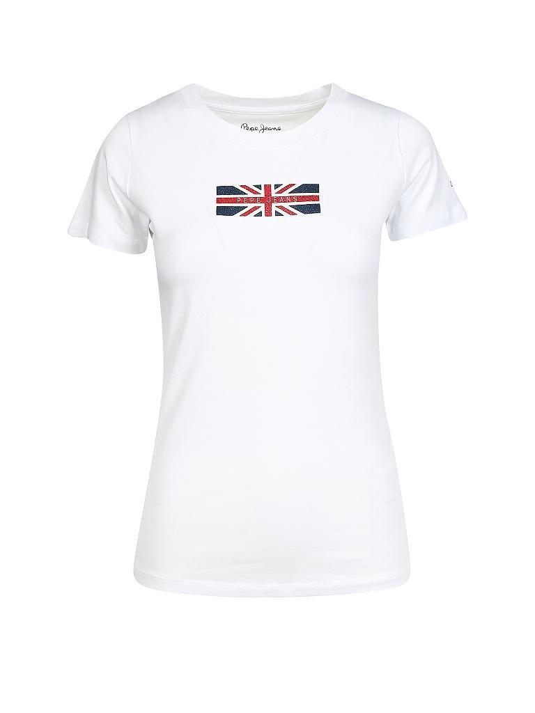 Modisches T-Shirt Happy von Only in Weiß mit Print Neu