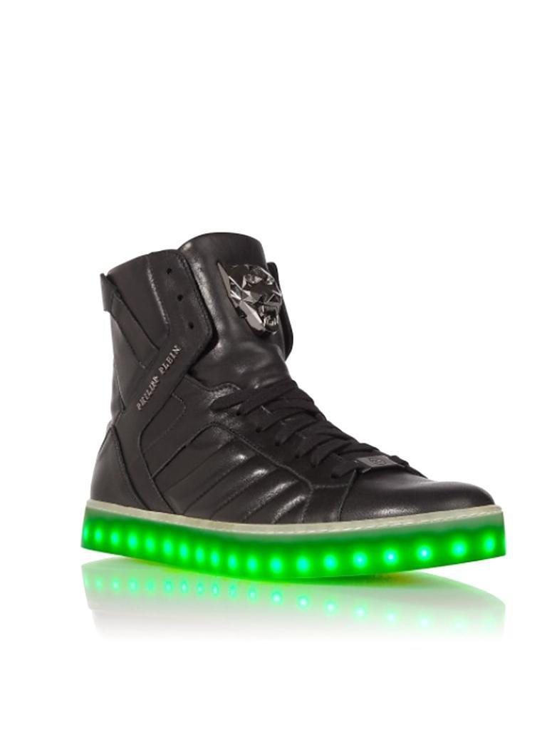 philipp plein sneaker light mit led schwarz 42. Black Bedroom Furniture Sets. Home Design Ideas