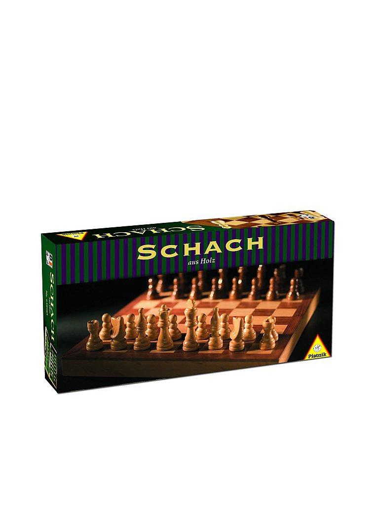 PIATNIK Schach-Holzkasette mit Holzfiguren