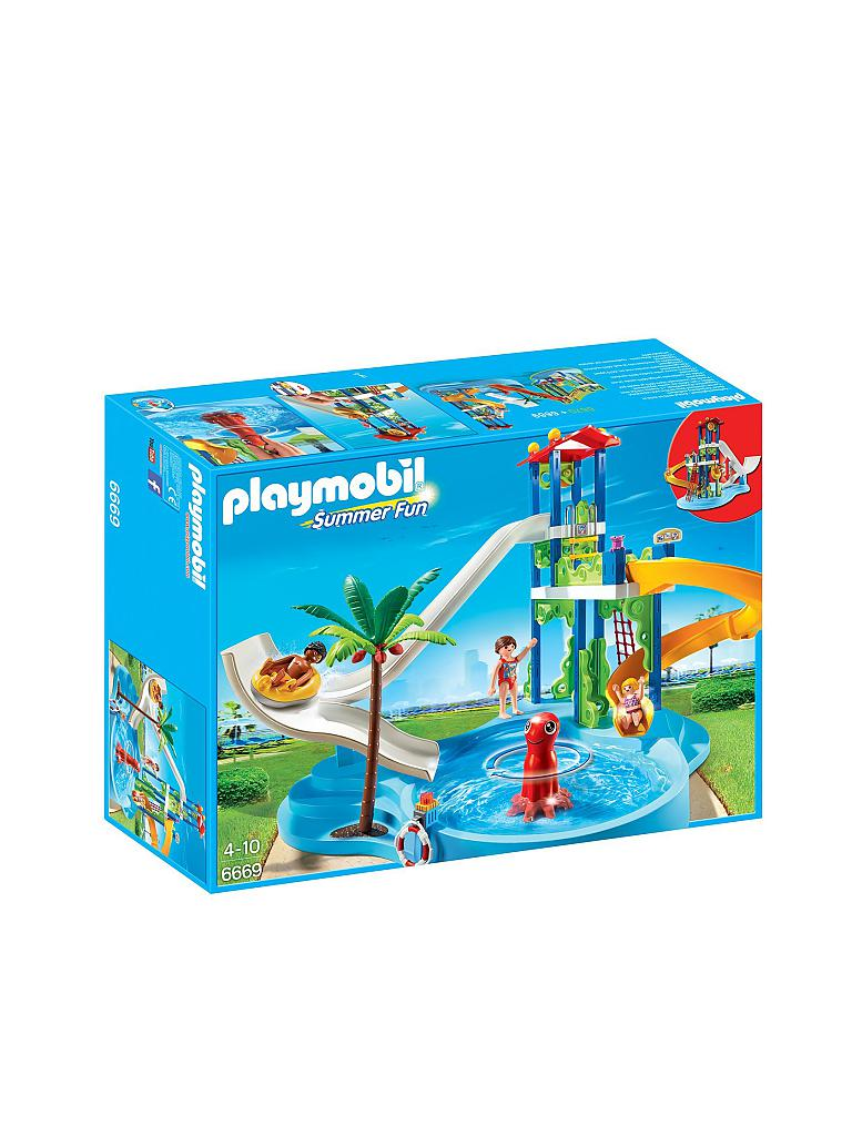 PLAYMOBIL | Aquapark mit Rutschentower | transparent