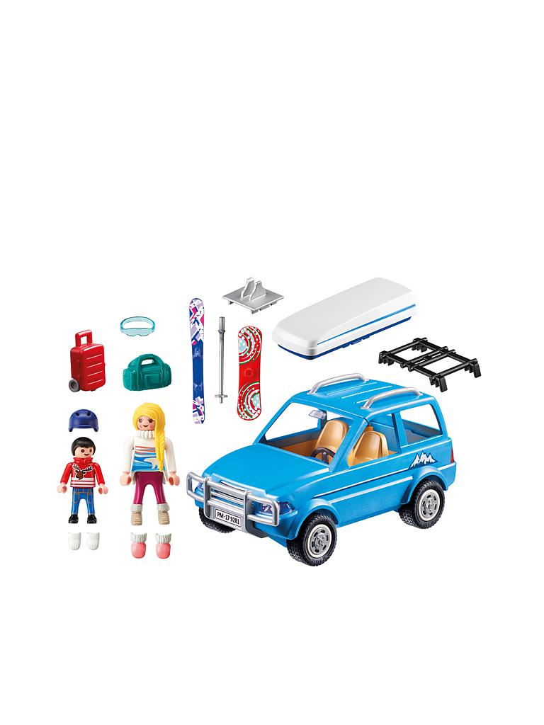 playmobil auto mit dachbox 9281 transparent. Black Bedroom Furniture Sets. Home Design Ideas