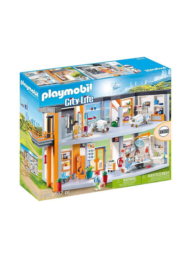 playmobil city life  großes krankenhaus mit einrichtung