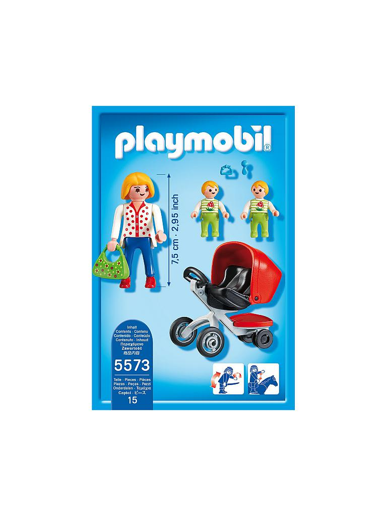 PLAYMOBIL | City Life - Zwillingskinderwagen 5573 | transparent