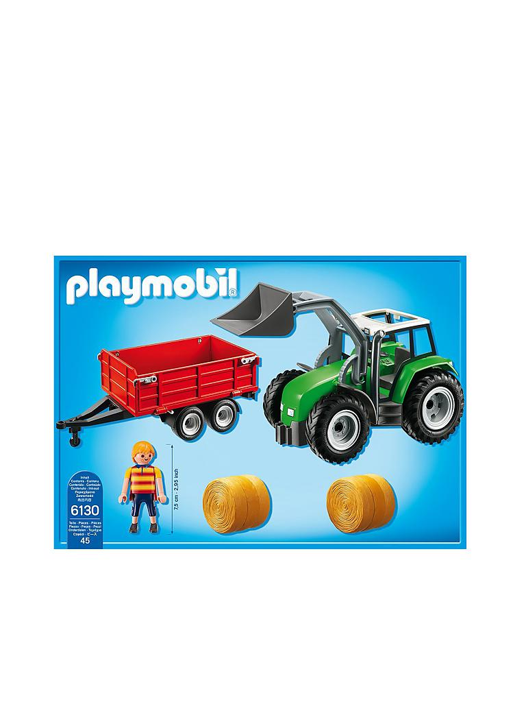 PLAYMOBIL | Country - Grosser Traktor mit Anhänger 6430 | transparent