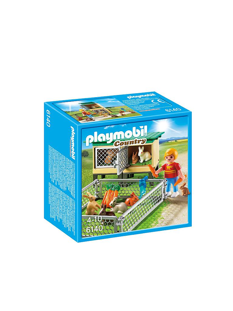 PLAYMOBIL | Country - Hasenstall mit Freigehege 6140 | transparent